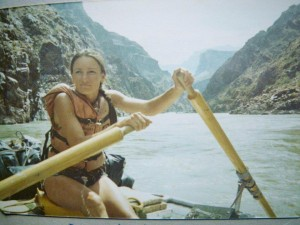 Author in Grand Canyon, 1983 high water in Inner Gorge. Photograph by Tim Turner.
