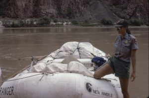 Part of the NPS river unit. Photograph 1984 by Jeannine Koshear.