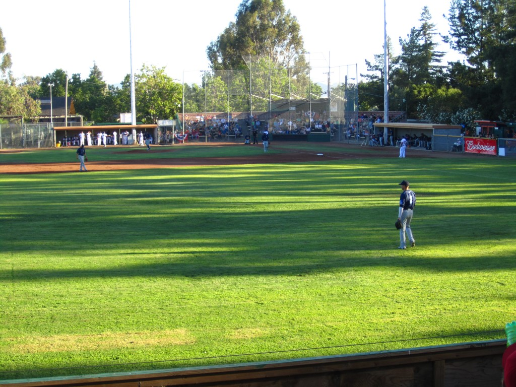 Sonoma Stompers winning yet another game, seen from the cheap seats. Photograph by Rebecca Lawton.