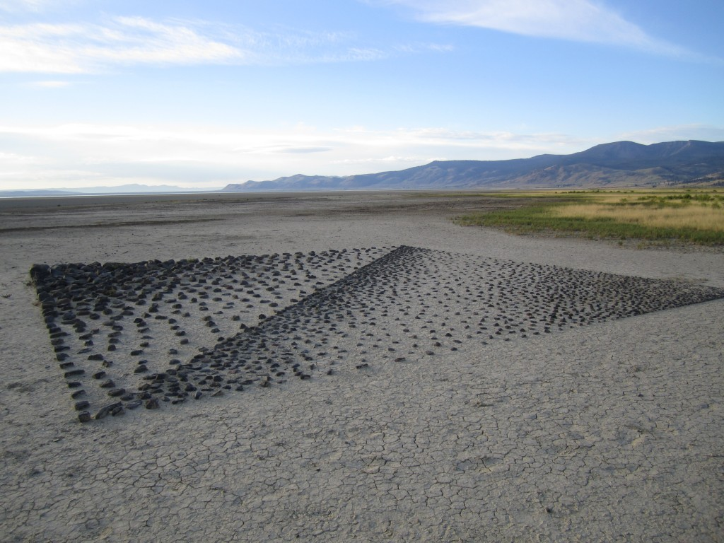 Installation on the Playa. Photo by Rebecca Lawton.